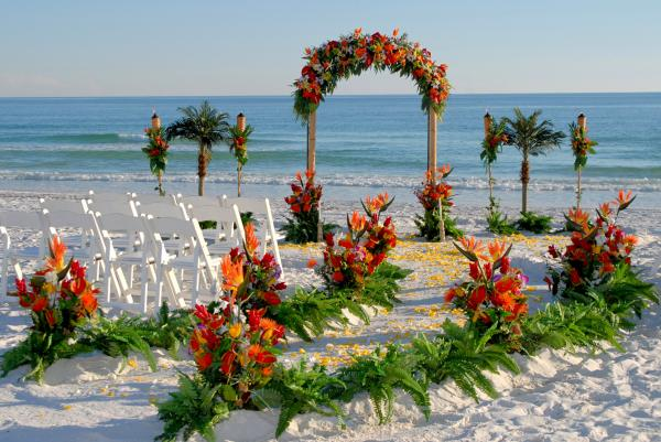 Tropical Barefoot Dream beach wedding package