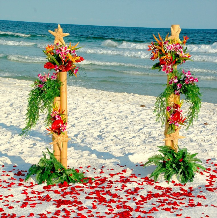 Exotic Barefoot Beach Weddings