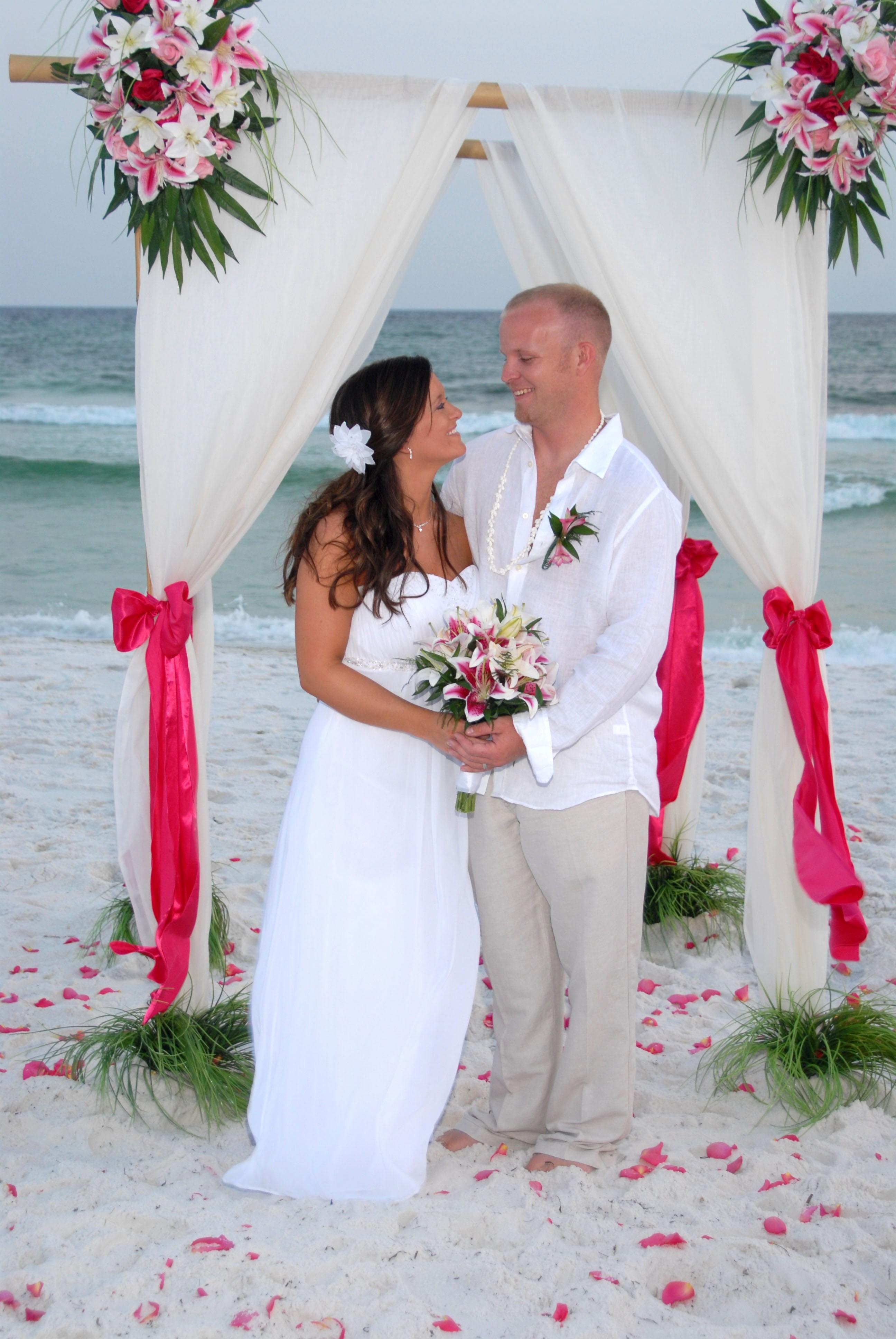 Florida Barefoot Beach Weddings Destin Fort Walton Beach