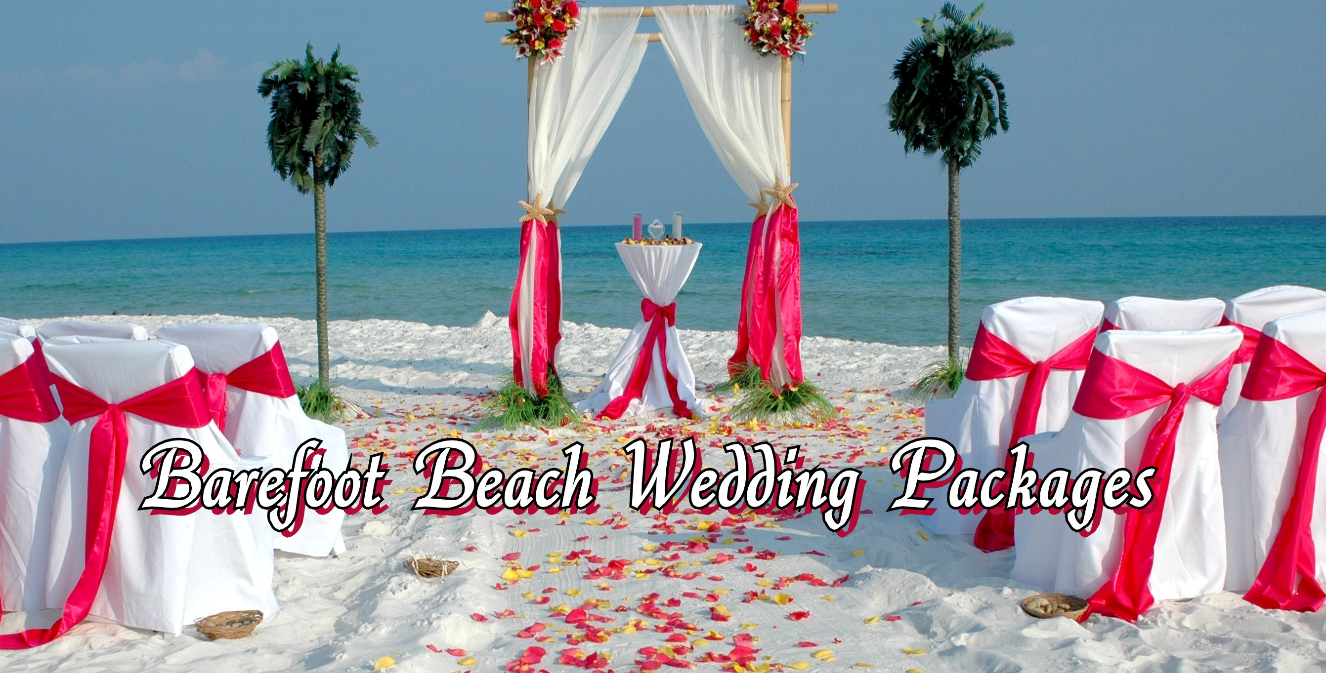 Barefoot Bamboo Beach Wedding Arbor