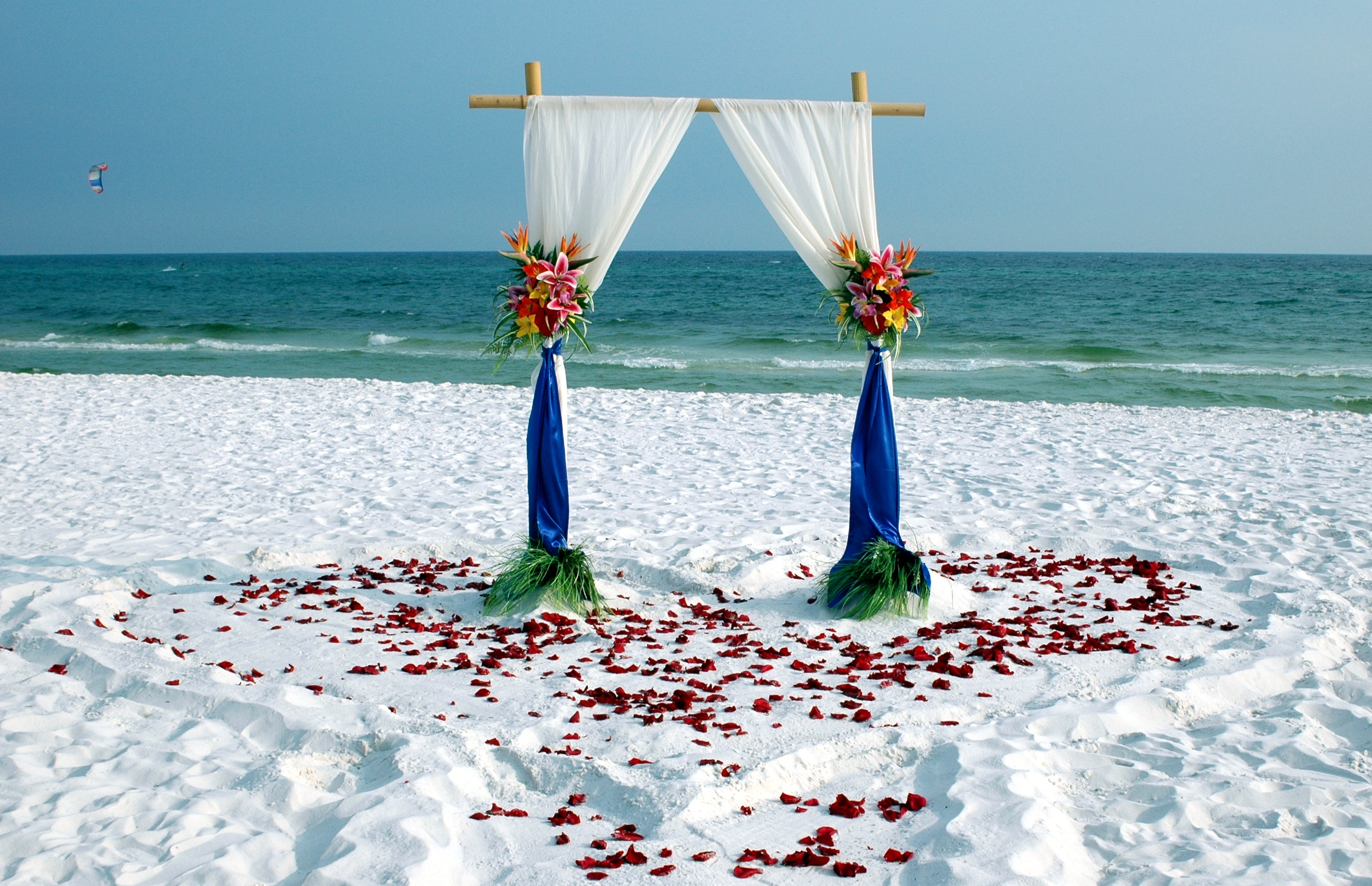 Wedding At The Beach: Florida Barefoot Bamboo Arbor Beach Wedding Packages