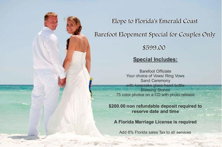 Barefoot Weddings Elopement Special